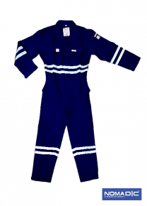 100% Cotton FR 320 GSM- Coverall - Navy Blue- Xlarge