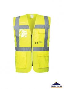 Portwest- BERLIN EXECUTIVE VEST S476 YELLOW- SMALL