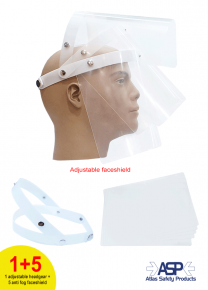 Eco Shield Pro (headgear with 5 anti fog shield)