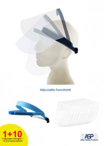 Eco Shield (headgear with 10 anti fog faceshield)