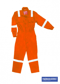 100% Cotton FR 220 GSM - Coverall - Orange