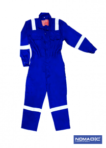 100% Cotton FR 220 GSM - Coverall - Royal Blue