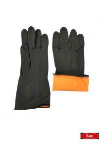 Industrial Rubber Gloves -Black